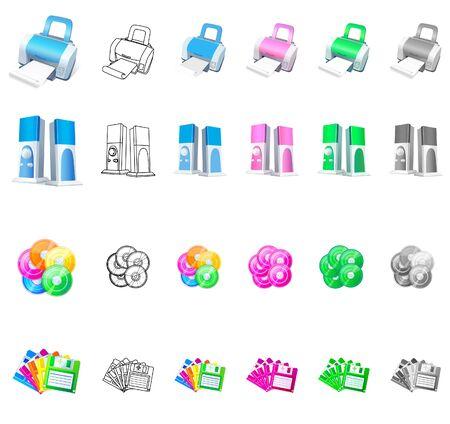 Set of electronic product icon