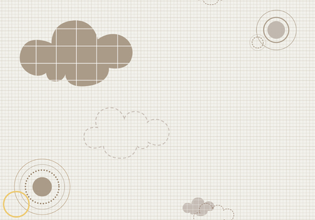 Cloud and checked pattern template