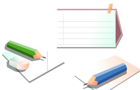 Kalender en potlood op wit wordt geïsoleerd dat
