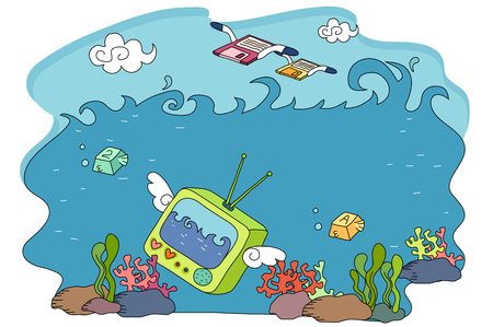 Computer device in the ocean