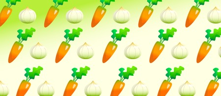 Carrot and onions pattern background