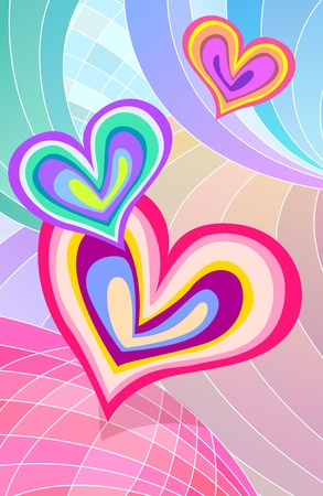 Heart shape with cubism pattern