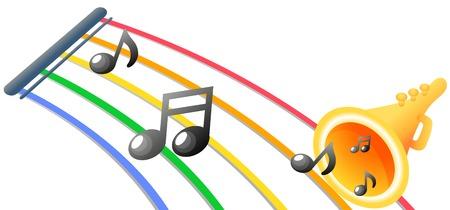 Note de musique isolée sur blanc Banque d'images - 90774818