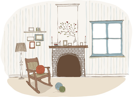 fireplace Stock Vector - 90917367
