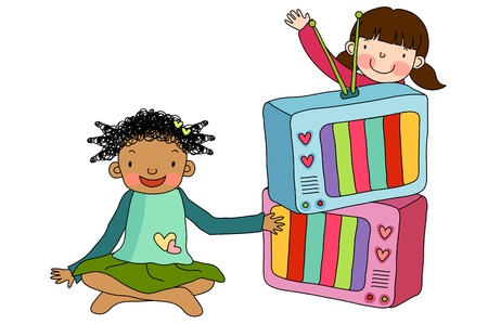 Children with television