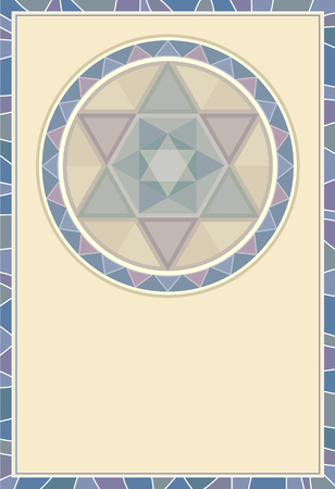 Abstract cubism pattern framework Illustration