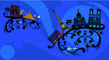 France architecture with abstract curve decoration