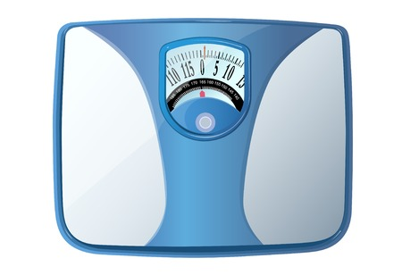 Isometric weight scale illustration