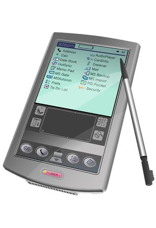 Isometric PDA illustration