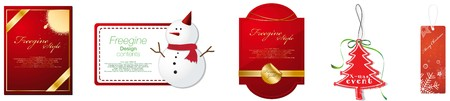 Set of Christmas coupon design template Illustration