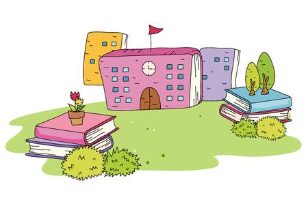 Book shape school
