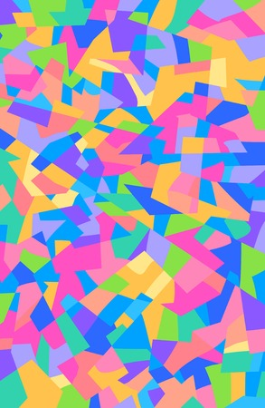 Abstract colorful cubism pattern