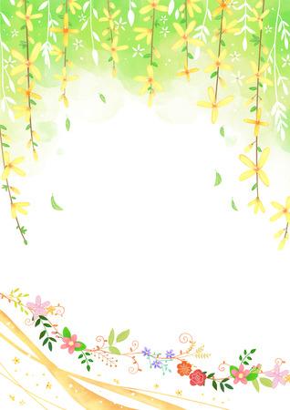 Spring background Vector illustration.
