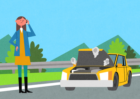 Traffic Safety Vector illustration.