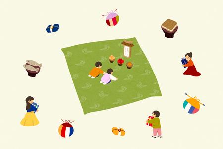 Koreas traditional holiday 008 Illustration