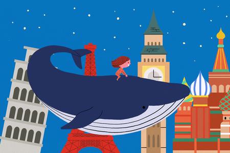 a kids dream world illustration