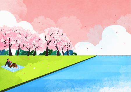 봄의 풍경 스톡 콘텐츠 - 91183648