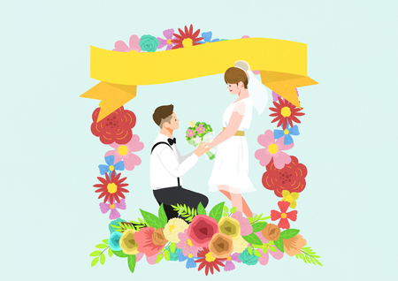 Wedding  illustration good as bacground. Illustration
