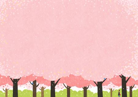 Frühling-Vektor-Illustration.