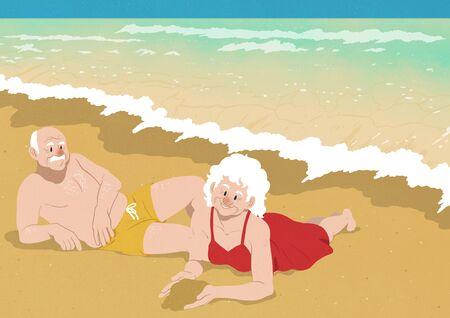 Life in Senior Vector illustration.