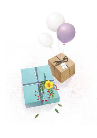 Gift object Vector illustration.