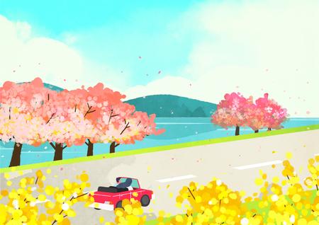 The scene of spring