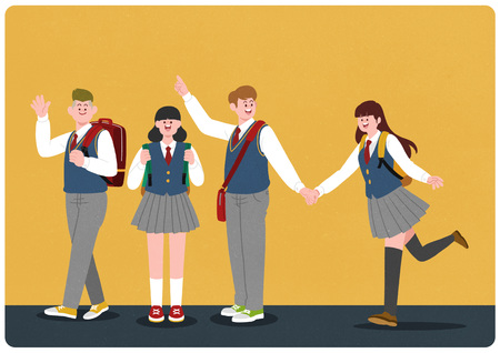 middle school student illustration