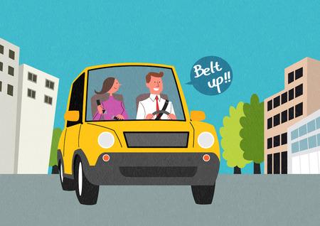 Traffic Safety Vector illustration.