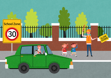 Traffic Safety  illustration good as bacground.