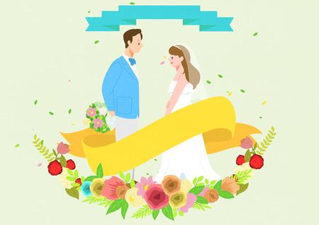Wedding  illustration good as bacground. Illusztráció