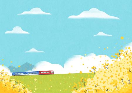 Springtime  illustration good as bacground. Illustration