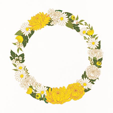 Floral Frame Vector illustration. Illustration