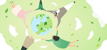 green family vector Stock Illustratie