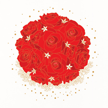 Ilustración de Vector de marco floral.