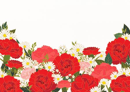 Floral Frame Vector illustration.  イラスト・ベクター素材