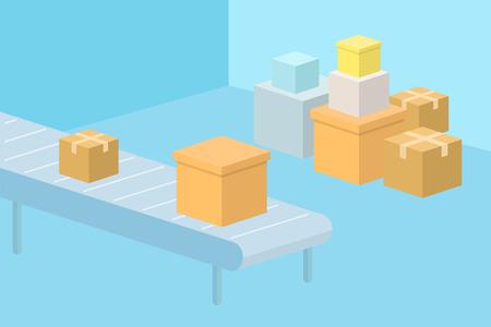 Delivery service concept illustration. Stock Illustratie