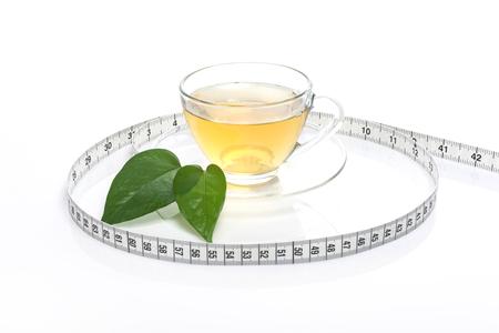 Una tazza di tè isolata su fondo bianco Archivio Fotografico - 92677992
