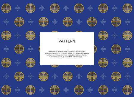 Korean traditional pattern. vector illustration.