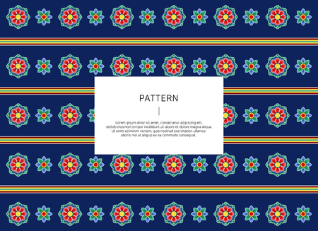 韓国の伝統的なパターン。ベクトルイラストレーション。