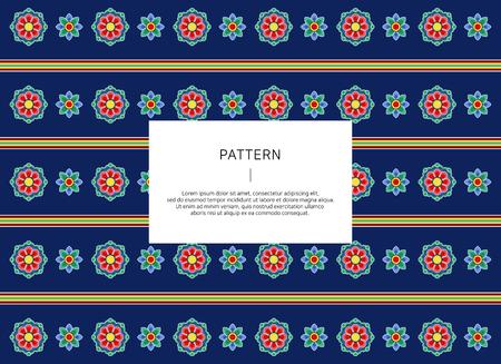 Korean traditional pattern. vector illustration. Illusztráció