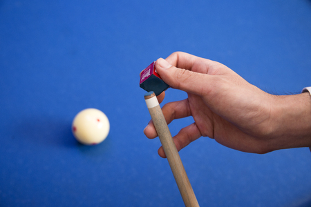 Play billiards on the pool table. 014 Banque d'images