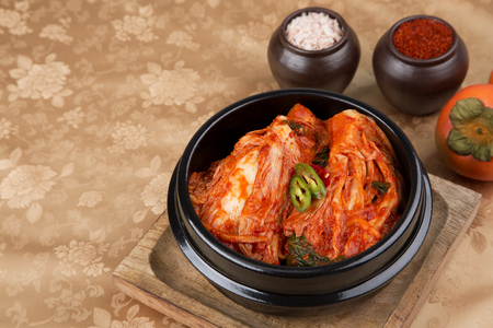 kimchi, which is a globally recognized healthful food 116 Stock Photo