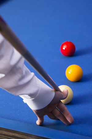Play billiards on the pool table. 052 Banque d'images