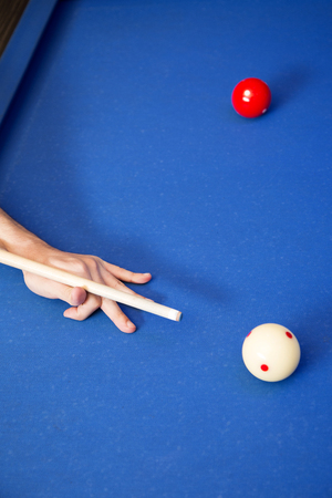 Play billiards on the pool table. 009 Banque d'images