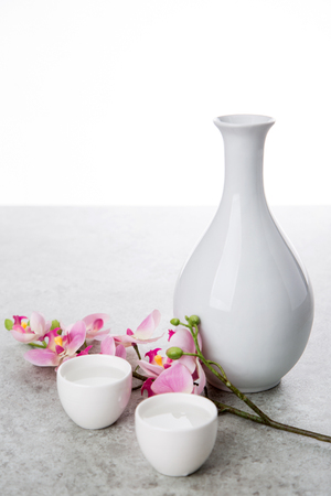 the Korean traditional drinks - rice wine, Makgeolli and others. Stock Photo