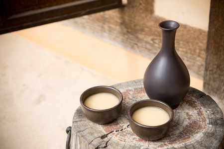 the Korean traditional drinks - rice wine, Makgeolli and others. 173