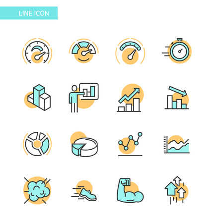Line Icon set- business, financial, map etc. 011
