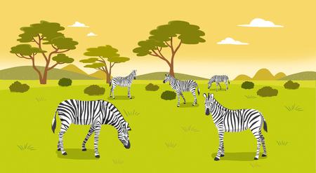 Peaceful wild animals, RF illustration 005 Illustration
