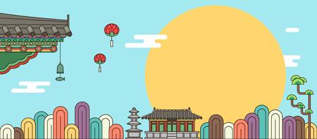 Korean traditional pattern background