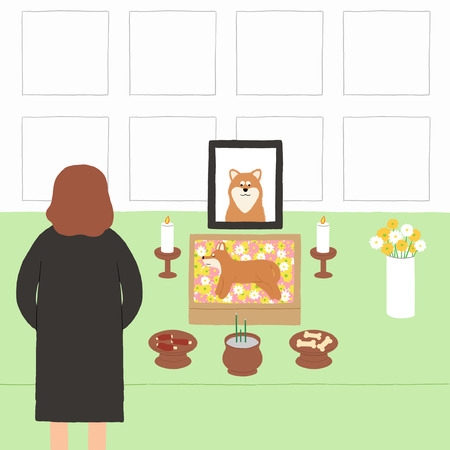 Living with a pet stock illustration  イラスト・ベクター素材